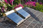 太陽熱温水暖房 — ストック写真