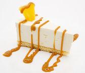 Caramel cheesecake — Stock Photo