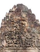 Bassorilievo in ta prohm in angkor, cambogia — Foto Stock