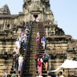 Tourists at Angkor Wat, Cambodia — Stock Photo
