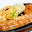 Grilled frankfurters - Stock Photo