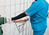 Medical care at prison — Stock Photo