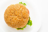 Hamburger, top view — Stock Photo