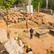 Stock Photo: Restoration at Angkor, Cambodia