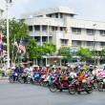 Bangkok motorcyclists — Stock Photo