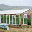 Greenhouse at kitchen garden — Stock Photo