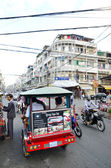 Traffic in Pnom Penh, Cambodia — Stockfoto
