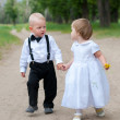 Babies on walk — Stock Photo