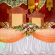 Wedding banquet table - oriental style — Stock Photo