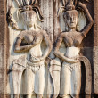 Stock Photo: Apsaras, low relief in Angkor