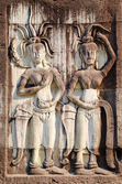 Apsaras, low relief in Angkor — Stock Photo