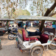 Taxis in Angkor, Cambodia — Stock Photo