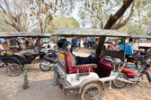 Taxis in Angkor, Cambodia — Stock Photo