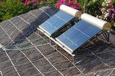 Solar water heating — Stock Photo
