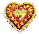 Fruit wedding cake — Stok fotoğraf