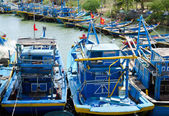 Resting fishing boats in Vietnam — Foto de Stock