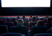 Viewers at cinema — Stock Photo