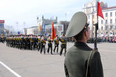 Military parade, Russia — Stock Photo