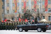 Parade commander in car — Stock Photo