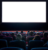 Viewers at movie theater — Stock Photo