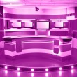 Magenta television studio — Stock Photo