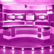 Magenta television studio — Stock Photo #42888661