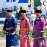 Buryat (Mongolian) archers — Stock Photo