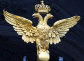 Double headed eagle of the Winter Palace, St. Petersburg — Stock Photo