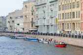 River buses at St. Petersburg — Stock Photo