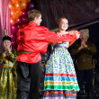 Russian folk dancers — Stock Photo