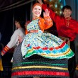 Russian folk woman dancer — Stock Photo