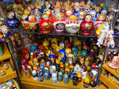 Russian dolls for sale, St. Petersburg — Stock Photo
