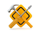 Utility. Tools, screwdriver and hammer. — Stock Photo