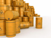 A barrels of radioactive waste. 3d — Stock Photo