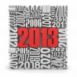 New year 2013.cube built from numbers. — Stock Photo #13851836