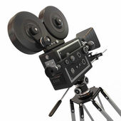 Vintage movie camera. 3d — Stock Photo