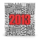 Capodanno 2013.cube costruito da numeri. — Foto Stock