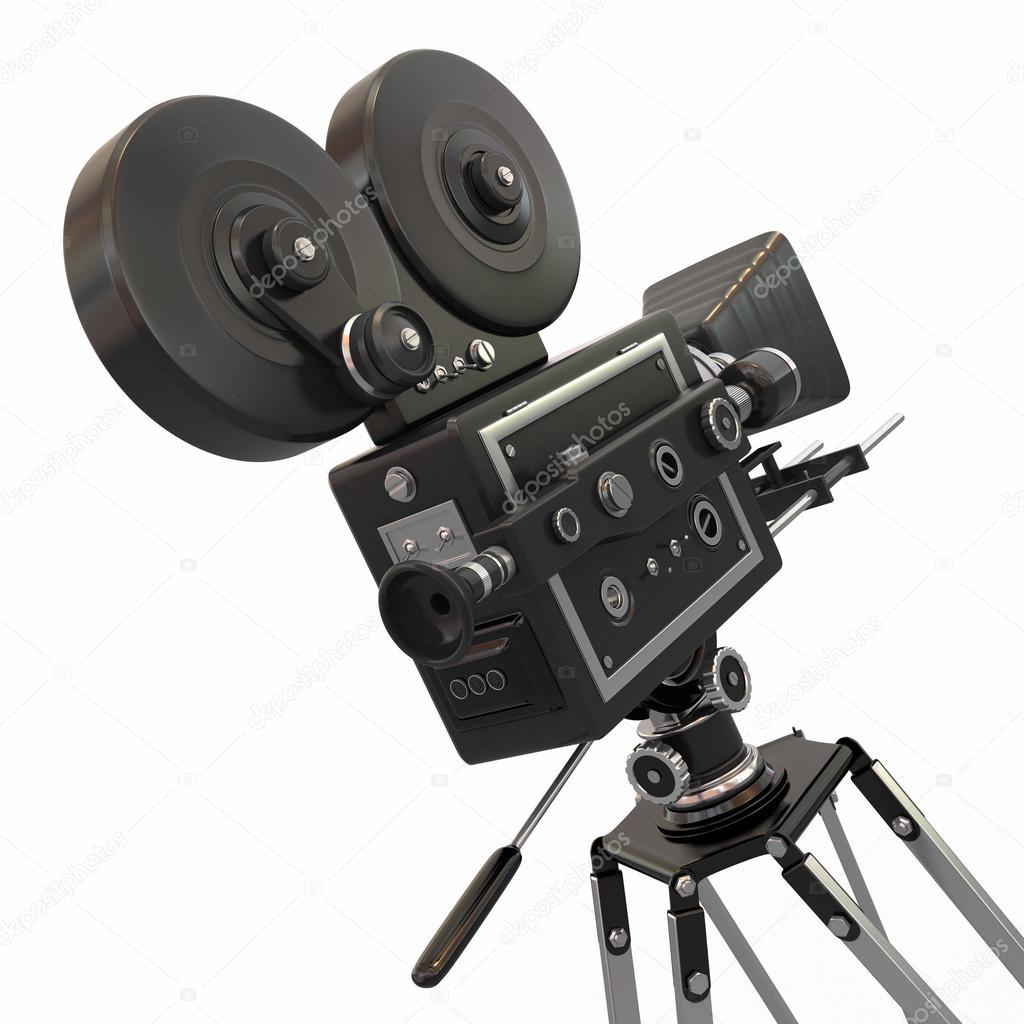 Vintage movie camera. 3d — Stock Photo © maxxyustas #13851834 Vintage Camera Backgrounds