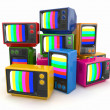 Heap of vintage tv. End of television — Stock Photo #14020035