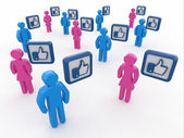 Concept of social network. — Stock Photo