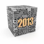Sayılardaki inşa yeni yıl 2013.cube. — Stok fotoğraf