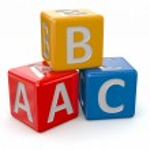 Alphabet. ABC blocks cube — Stock Photo