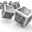 Lottery, Qr code cubes as dice — Stock Photo #14285125