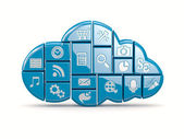 Cloud-computing — Stockfoto