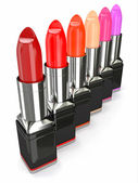 Row of lipsticks — Stock Photo