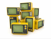 Heap of vintage tv. — Stock Photo