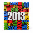 New year 2013.cube built from numbers. — Stock Photo #14695839