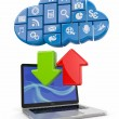 Cloud computing. Concept image. — Stock Photo