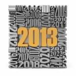 nyår 2013.cube byggdes från nummer — Stockfoto