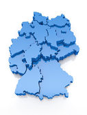 Three-dimensional map of Germany — Stock Photo